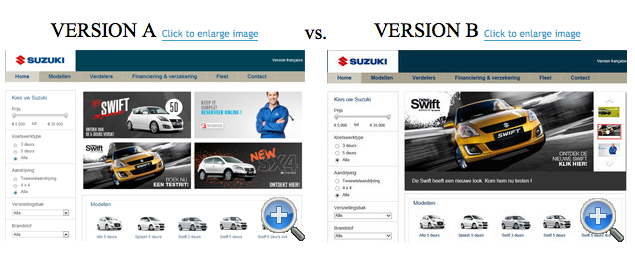 Suzuki Homepage Slider Test