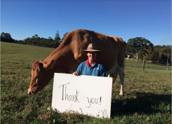 The perfect donor thank you letter – from an Aussie dairy farmer